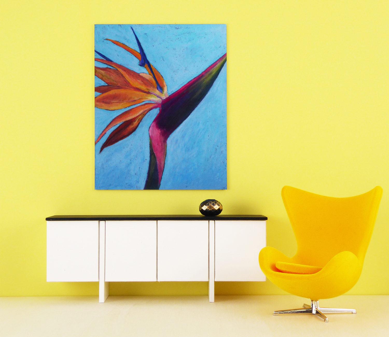 Mini Tropical Flower Metal Print - by Mini Modern Paintings
