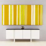 Miniature Modular Painting, Yellow and White Stripe