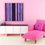 Purple Stripe Original Mini Painting