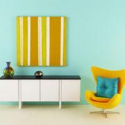 Yellow Stripe Original Mini Painting