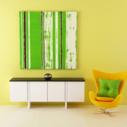 Bright Green Mini Abstract Painting