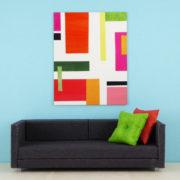 Minimalist Geometric Art, Bright Colors