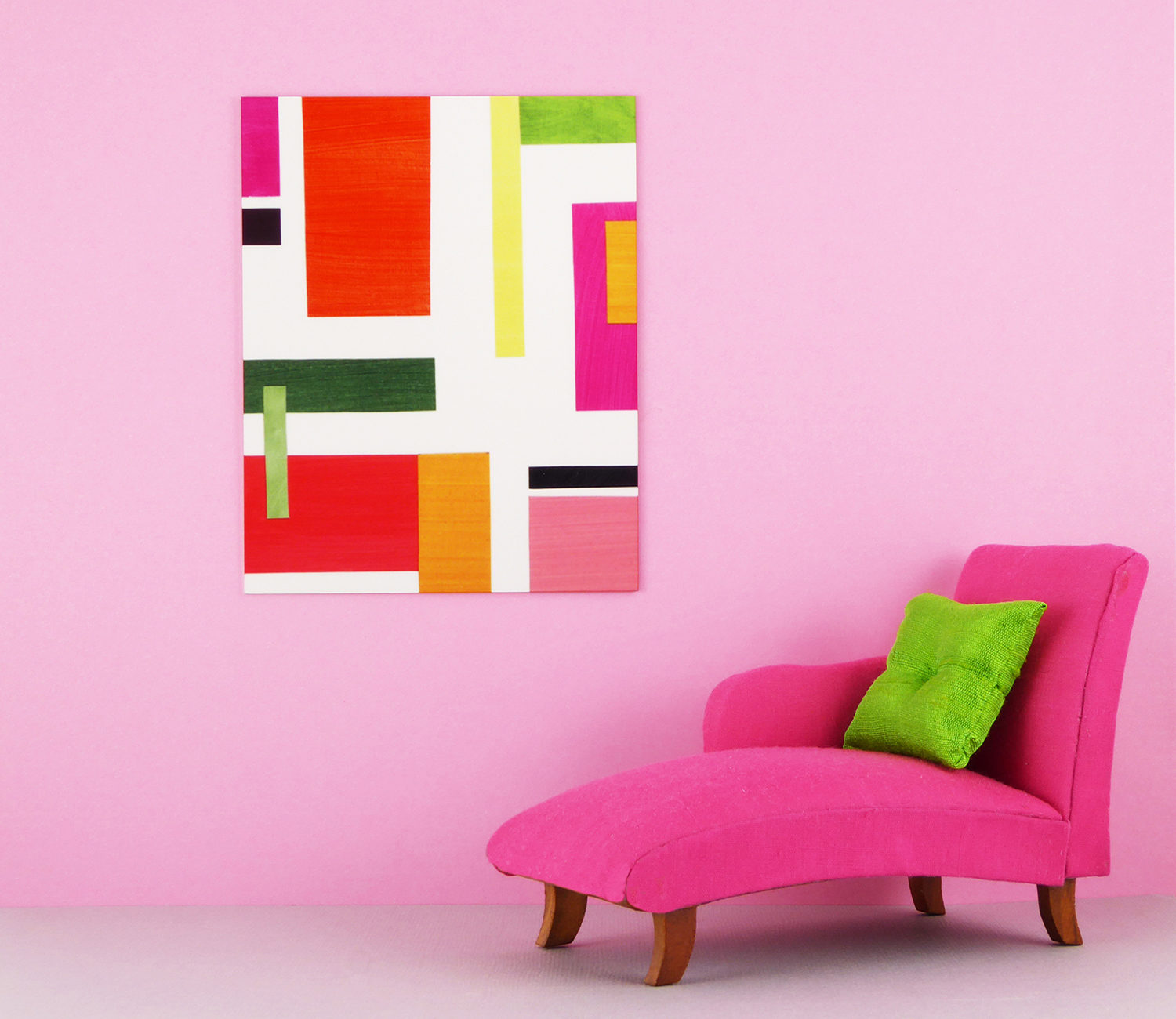 Minimalist Geometric Art, Bright Colors