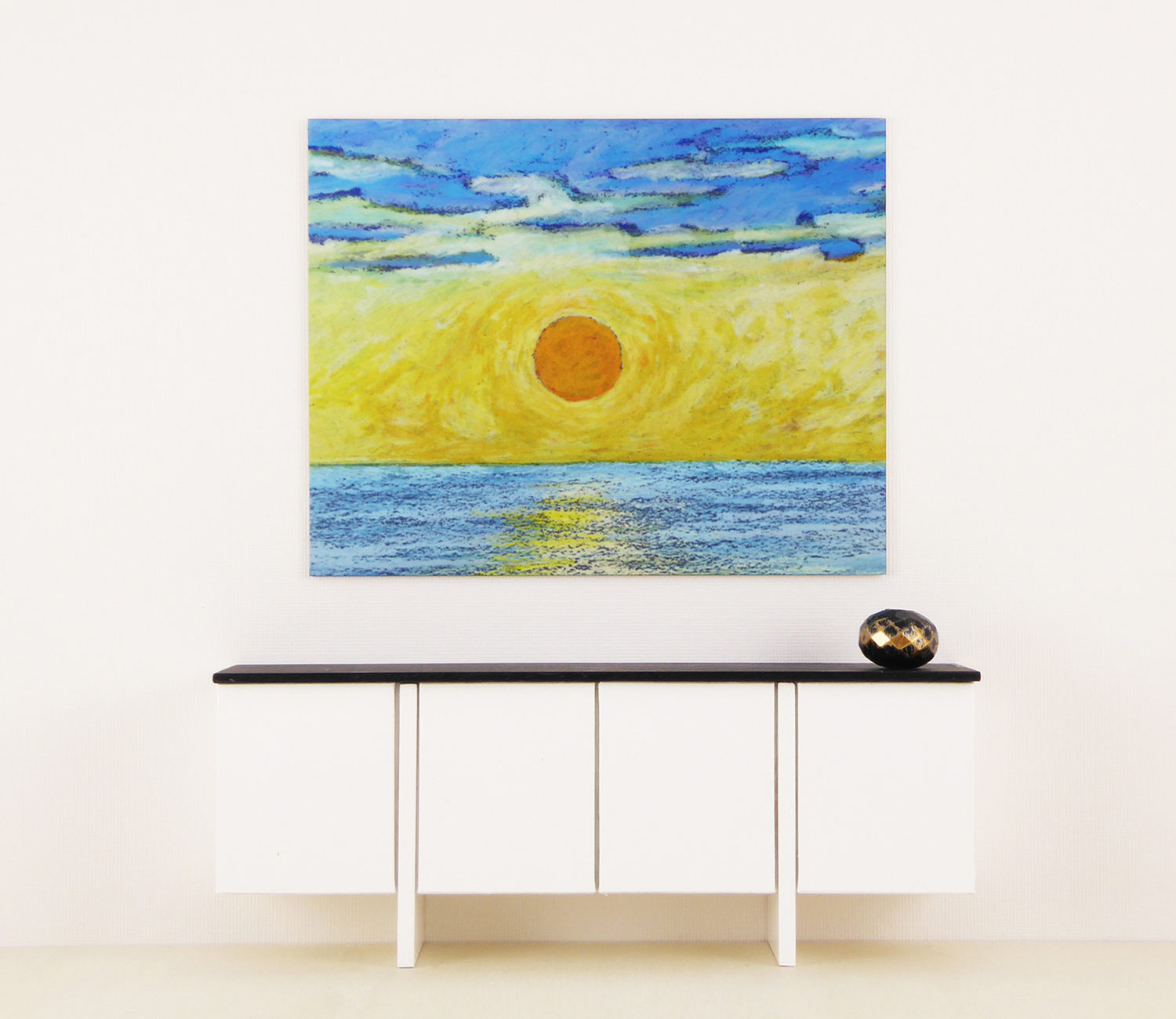 Mini Metal Art Print, Sunset
